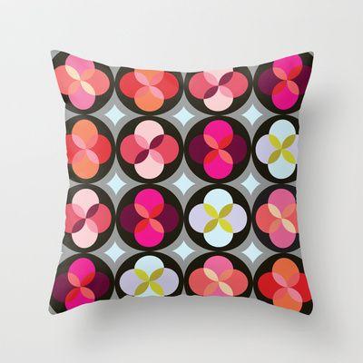 Geometric Flower #3 Throw Pillow by Michelle Nilson - $20.00