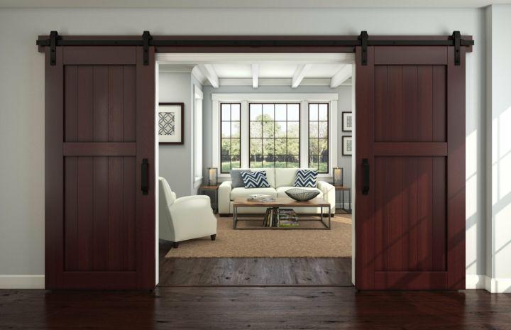 puertas correderas diseo tipo granero ideas increbles interiores pinterest idee e puertas