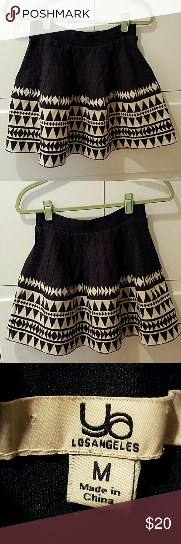 """Ya Los Angeles Tribal Print Skirt This is a very cute 60% cotton 40% acrylic, kind of a heavier fabric, elastic waist skirt. 13"""" wide and 16"""" top to bottom. Ya Los Angeles Skirts Circle & Skater"""