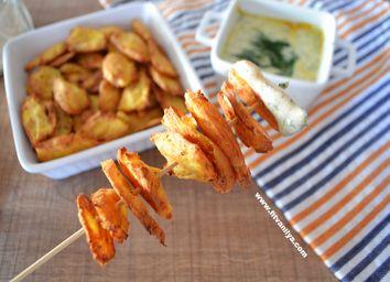 non fat potato chips ,yağsız patates cipsi