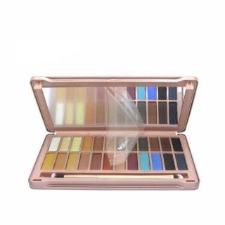 Palette+de+fard+à+paupières+Maquillage+Imperméable+Cosmétique+Fumé+Nu+24-Couleurs+NK8