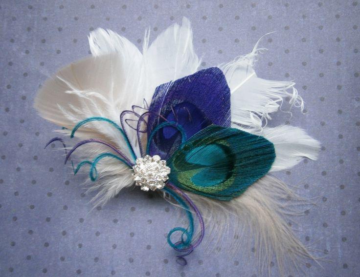 Peacock Bridal Hair Accessories   Peacock Wedding Feather Hair Accessories Feather by PeacockPixys