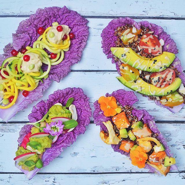 Purple Lettuce Cups via @feedfeed on https://thefeedfeed.com/paleoandplants/purple-lettuce-cups