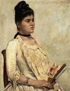 Giovanni Fattori; Ritratto della figliastra; 1889; olio su tela; Galleria d'arte moderna, Firenze.
