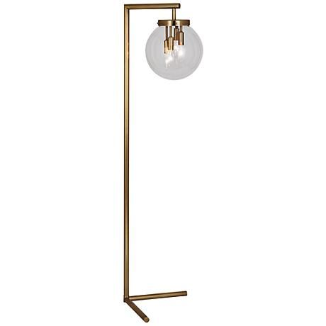 Best 25 antique brass floor lamp ideas on pinterest brass floor a floor lamp design with mid 60s mystique with a clear glass globe aloadofball Choice Image