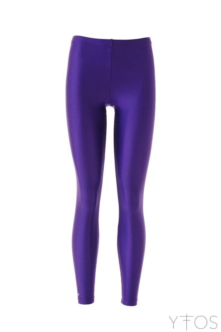 Purple shiny leggings