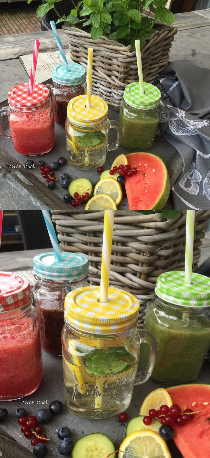 Healthy Drinks in lovely Jars...