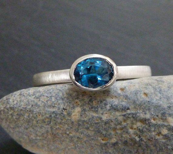 London Blue topaz ring oval topaz set in by karenjohnsondesign, £60.00