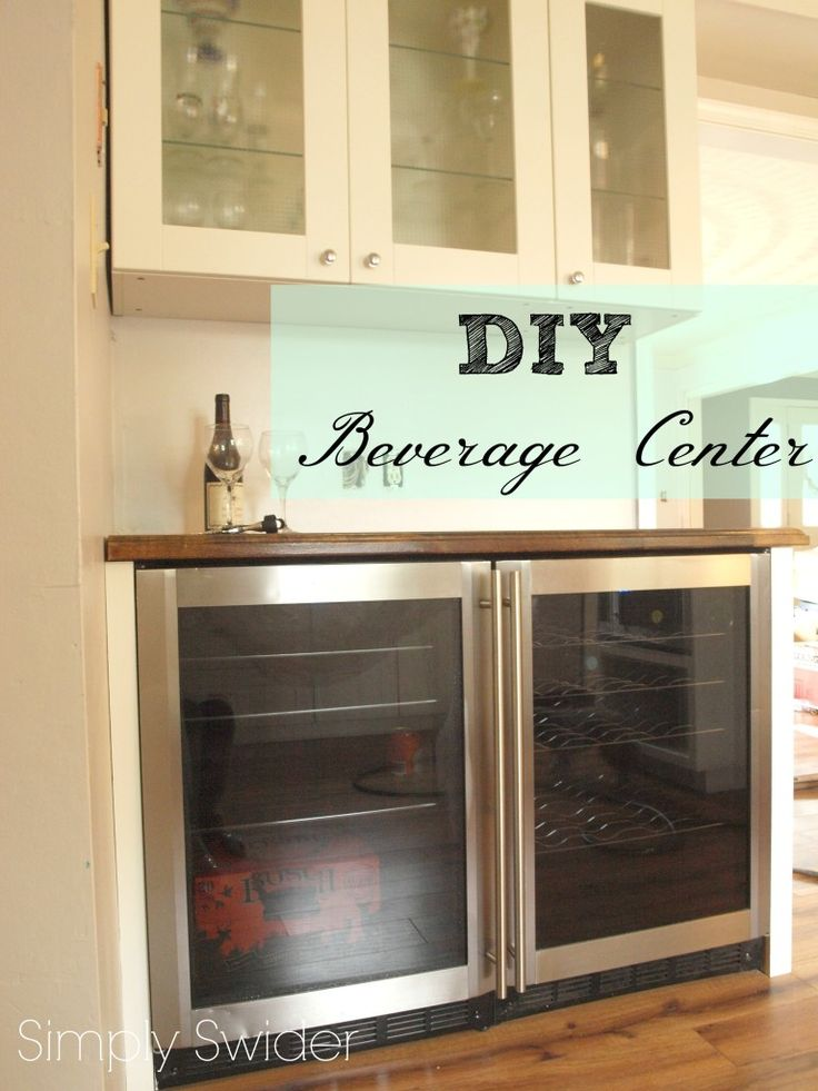 Diy Wine Bar And Beverage Center In The Kitchen