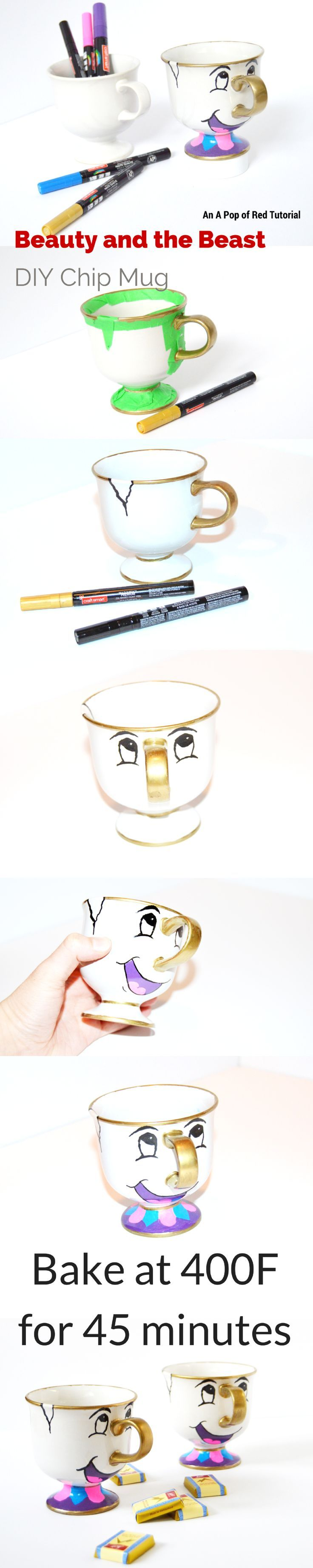 Paint pens for wood crafts - Diy Beauty And The Beast Mug A Sharpie Craft Or Oil Based Paint Pen