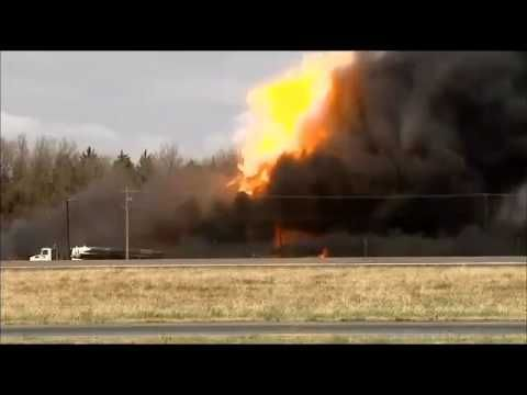 Explosions At Fracking Wastewater Tank Site