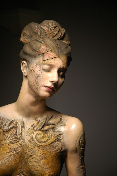 """Linda Ganstrom's """"Marie"""", Porcelain paperclay, steel and cold surfaces, 2012"""