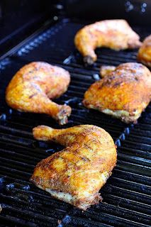 The Cooking Photographer: Grilled Jalapeno Mustard Beer Glazed Chicken Quarters