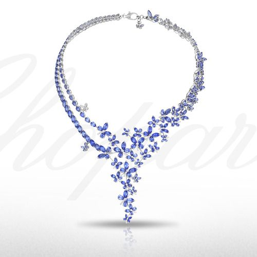 An Enchanting Sapphire and Diamond necklace from the 2014 Red Carpet Collection.
