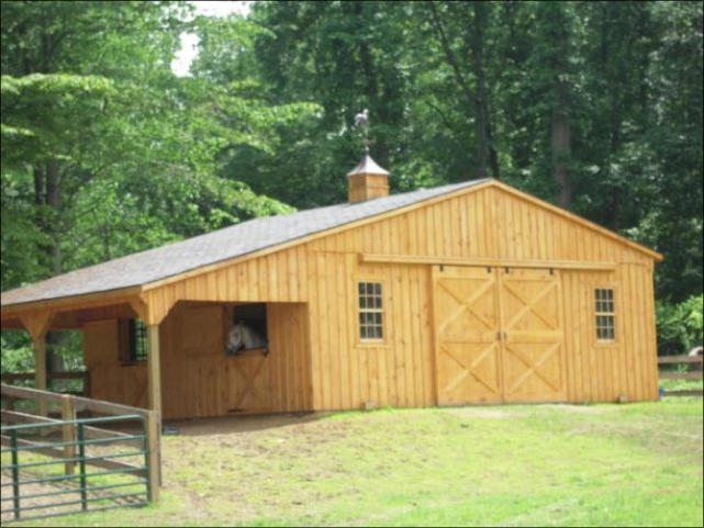 See our Modular - Trailside 24 x 32 Trailside Center Aisle Horse Barn. For more quality products, visit Penn Dutch Structures today!