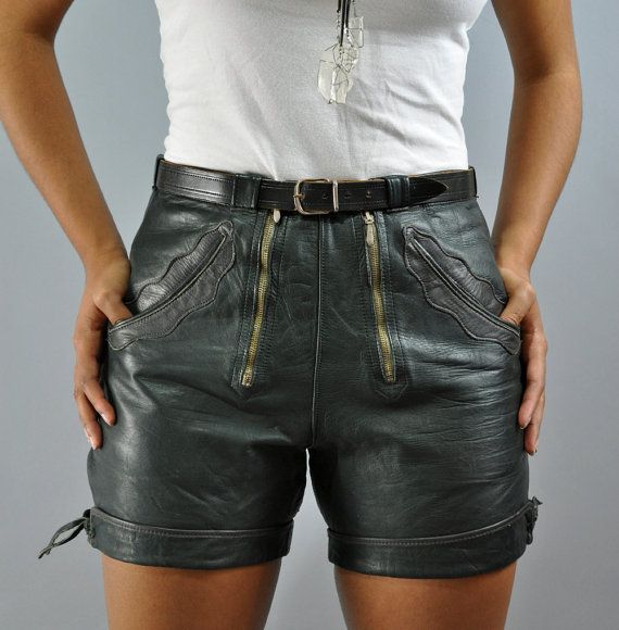 I think I could sport this look!!    50s 60s LEDERHOSEN LEATHER shorts  SWISS Hot by rockstreetvintage, $98.00