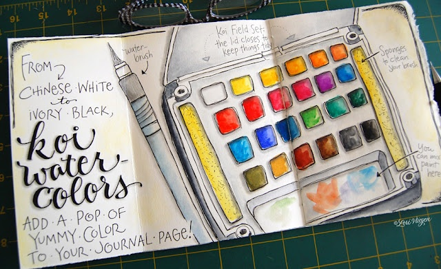 By Lori Vliegen - You can always paint your paint set :-)  #journal #art