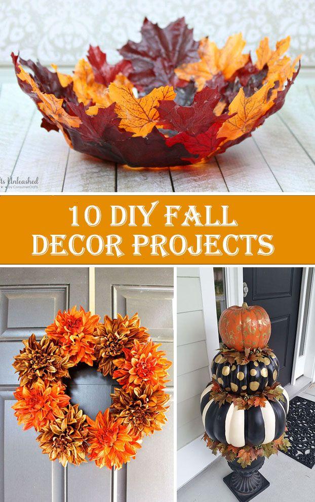 8 DIY Fall Decor Projects  fall decor ideas for the porch diy