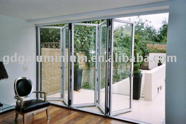 Alluminio utilizzato vetro esterno porta a soffietto, con tende trail vetro-immagine-Porta-Id prodotto:386894608-italian.alibaba.com