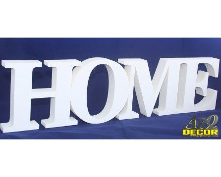 Napis Home - Dekoracje Ścienne - Wnętrz 3d Nr 02 - ARQ - DECOR   Pracowania Dekoracji ARQ DECOR