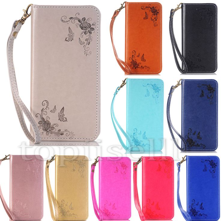 Magnetic Flip Patterned Strap PU Leather Wallet Stand Case S lot Cover Bumper HH