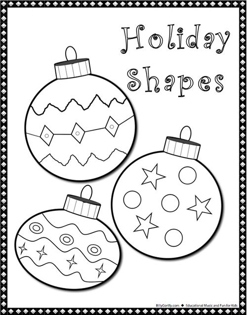 christmas shapes coloring pages - photo#24