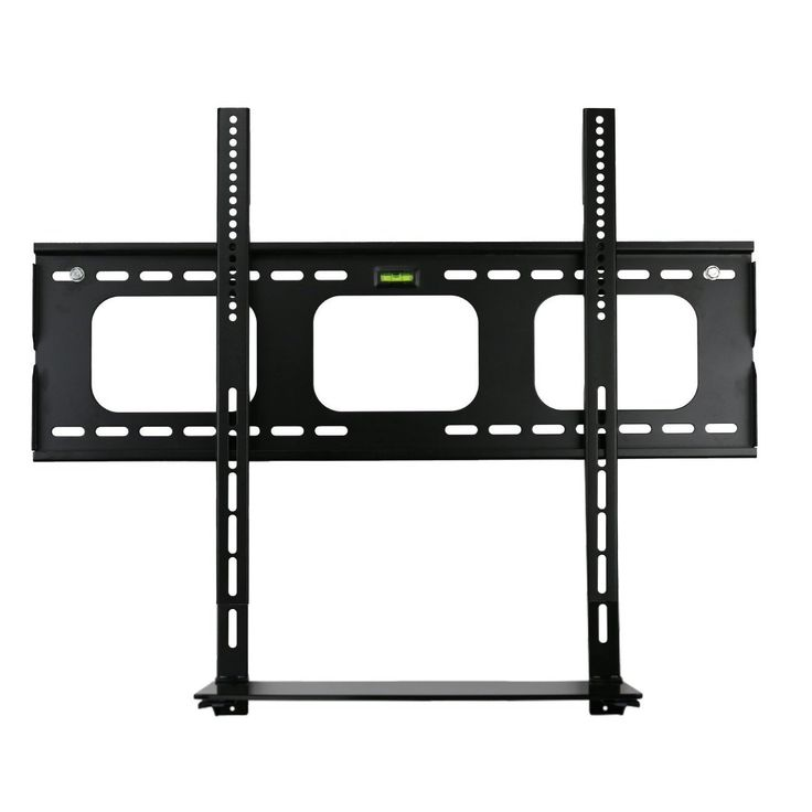 Mount-it! Low Profile Flat Panel TV Mount and Glass Entertainment Center Combo