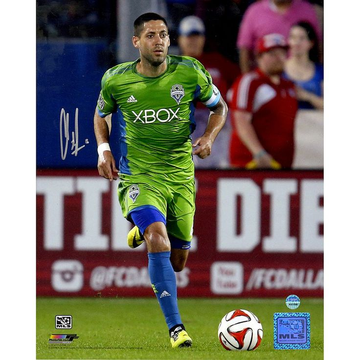 "Steiner Sports Seattle Sounders Clint Dempsey Dribbling Signed 8"" x 10"" Photo, Multicolor"