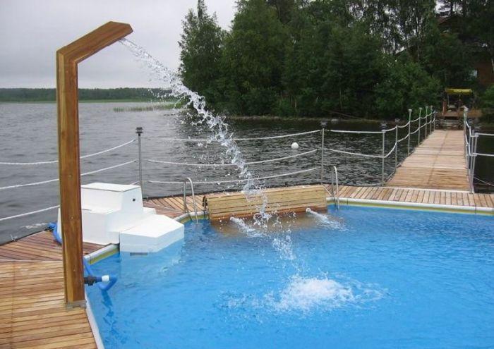 Услуги / Бассейн в озере / Фотографии бассейна в реке