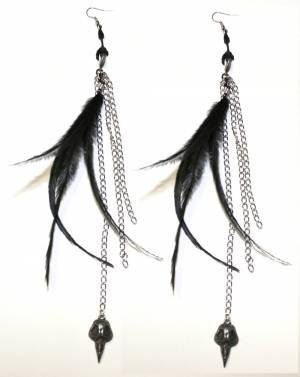 EARRINGS - Feather Claw - TOO FAST APPAREL