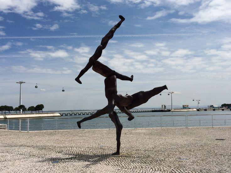 Antony Gormley #sculpture at Parque das Nacoes, Lisbon