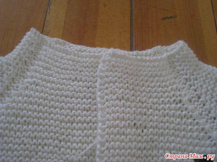 Лаконичный жакет платочной вязкой