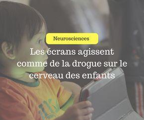 Des recherches récentes de l'imagerie cérébrale montrent que les tablettes et autres smartphones affectent le cortex frontal du cerveau – qui contrôle le fonctionnement exécutif, y compris la régulation des impulsions – exactement de la même façon quela cocaïne. La technologie est tellementexcitante qu'elle augmente les niveaux de dopamine (plaisir) quiencouragentinconsciemment les comportements qui activent …