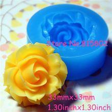 Trasporto libero HYL046U fiore/rosa silicone push mold-dei monili, fascini, cupcake (clay fimo epoxy resine da colata di cera di gomma)(China (Mainland))