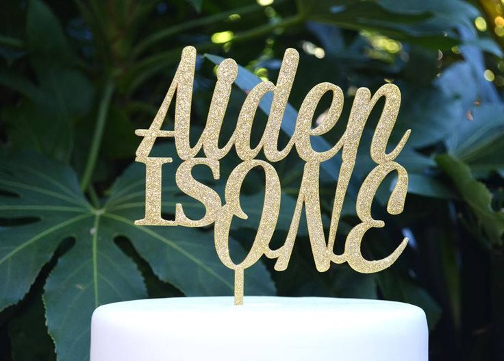 One Custom Name Birthday Cake Topper - Assorted Colours