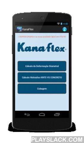 Kanaflex PEAD Corrugado  Android App - playslack.com , Este aplicativo serve de apoio a profissionais do ramo de hidráulica que trabalham no dia a dia com redes de drenagem de água pluvial e esgoto usando a tubulação corrugada ponta-bolsa em PEAD da KANAFLEX (KNTS).Use este aplicativo para:- Fazer cálculo da deflexão diametral da tubulação corrugada em PEAD. Neste cálculo fique sabendo se o tubo poderá ou não ser instalado nas condições apresentadas no projeto.- Fazer o cálculo hidráulico…
