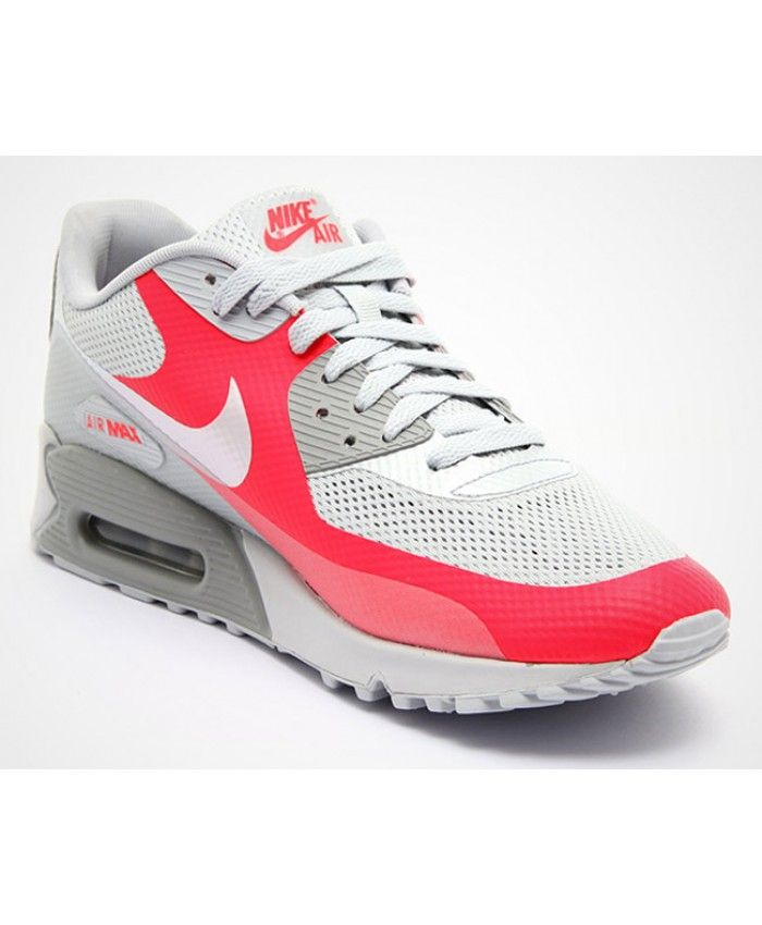 Nike WMNS Air Max 90 White Black Solar Red