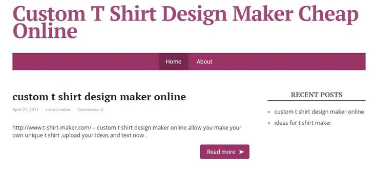 http://www.t-shirt-maker.com/ - the best custom t shirt design maker online, allow people to upload the logo and design ideas to make unique t shirts. #toreadmore