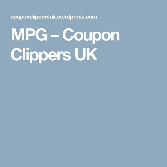 MPG – Coupon Clippers UK
