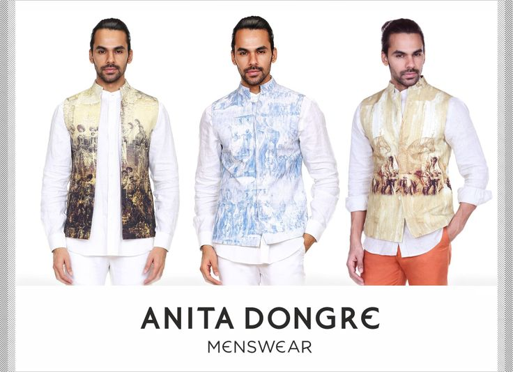 Add a cool spin to your traditional wear with these printed bandis. Inspired by lithography.   To buy online - http://shop.anitadongre.com/man/bandi.html