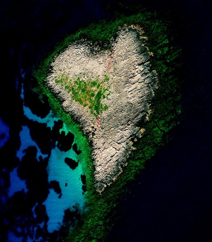 Heart-shaped Greek island.