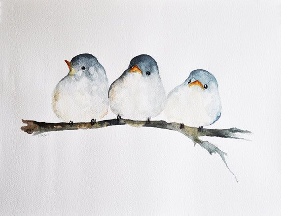 Hey, I found this really awesome Etsy listing at https://www.etsy.com/ru/listing/178501818/three-birds-original-watercolor-painting