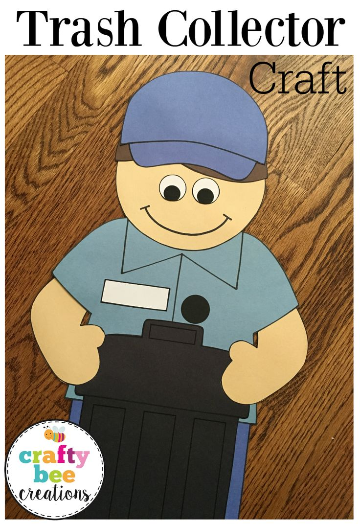 Cute Trash Collector craft that includes patterns and directions to make craft on construction paper.  Very easy to use and great for a community helper unit!