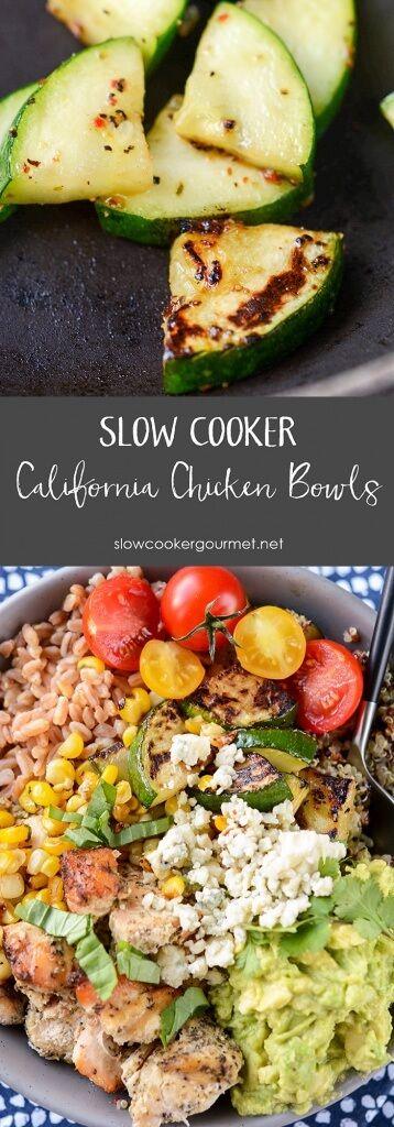 Slow Cooker California Chicken Bowls