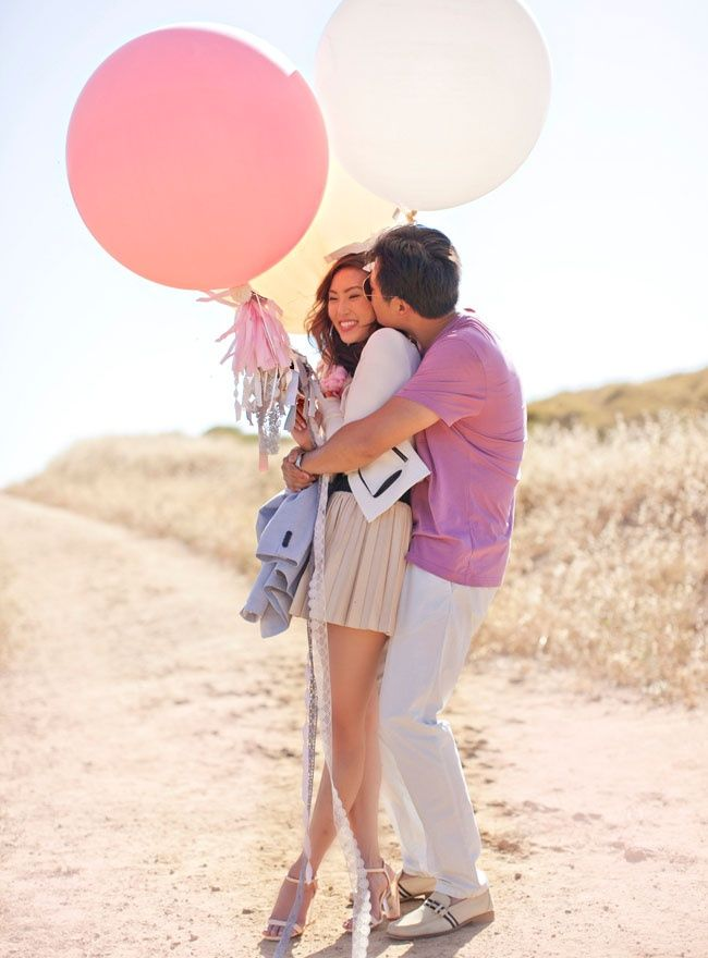 fun balloon props What to Wear for an Engagement Shoot
