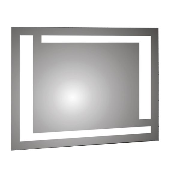 Backlit Bathroom Mirror with 2 light Strips