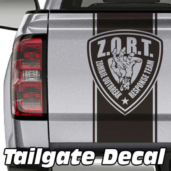 Zombie Outbreak Truck Tailgate Decal