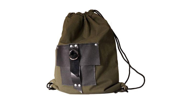 Green backpack school backpack trip backpack mens backpack bucket bags black leather backpack leather backpack gift for him (42.00 USD) by Malikdesign