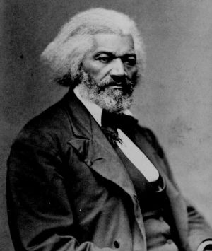 Frederick Douglass was one of the few men present at the pioneer woman's rights convention held at Seneca Falls, New York, in July 1848.