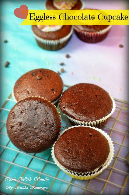 EGGLESS CHOCOLATE CUPCAKE RECIPE/EGGLESS CHOCOLATE MUFFIN RECIPE | Cook With Smile #cake #muffins #cupcake #egglessbaking #egglesscake #chocolate #chocolatecakes